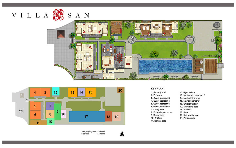 Floorplan VILLA SAN Ubud 48 Bedroom Luxury Villa Bali Cool Bali 4 Bedroom Villa Plans